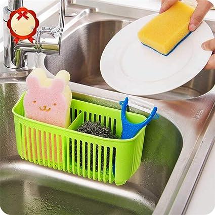 Sink Shelf Rack Soap Sponge Storage Drain Rack Organiser with Adjustable Strap