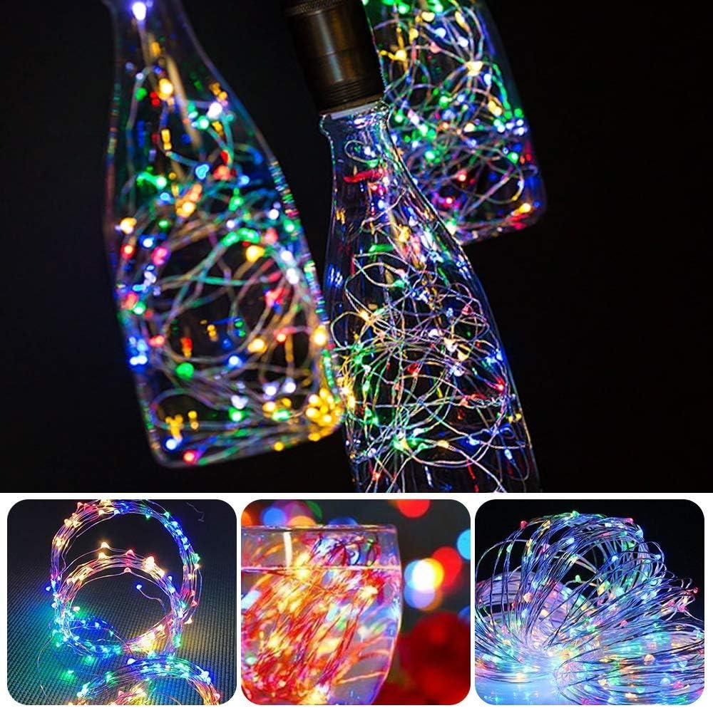 DOOK Luz de Botella,luz Corcho, Luces led para Botellas de Vino 2m ...