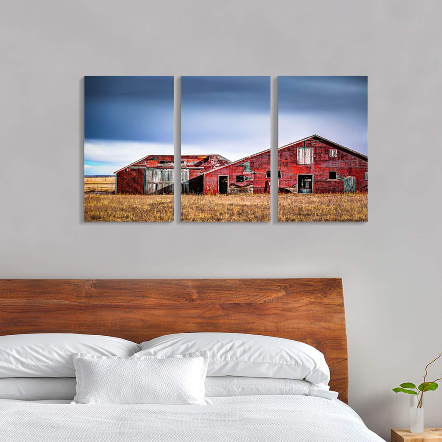 Old Barn Graphic Art Print on Canvas Hardy Gallery Rustic Landscape Artwork Building Picture