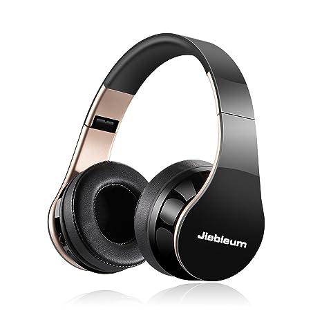 Jiebleum Auriculares Bluetooth de Diadema Inalámbricos,Plegable con Micrófono Manos Libres y Hi-Fi