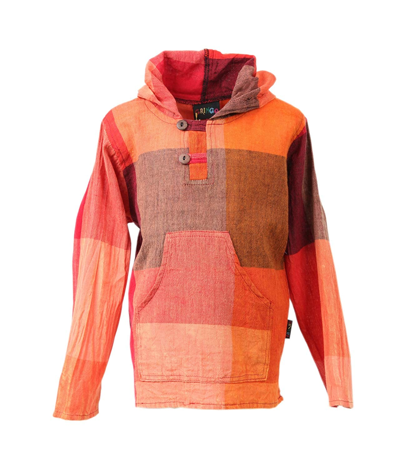The Hippy Clothing Co. Kids Printed Check Hoodie