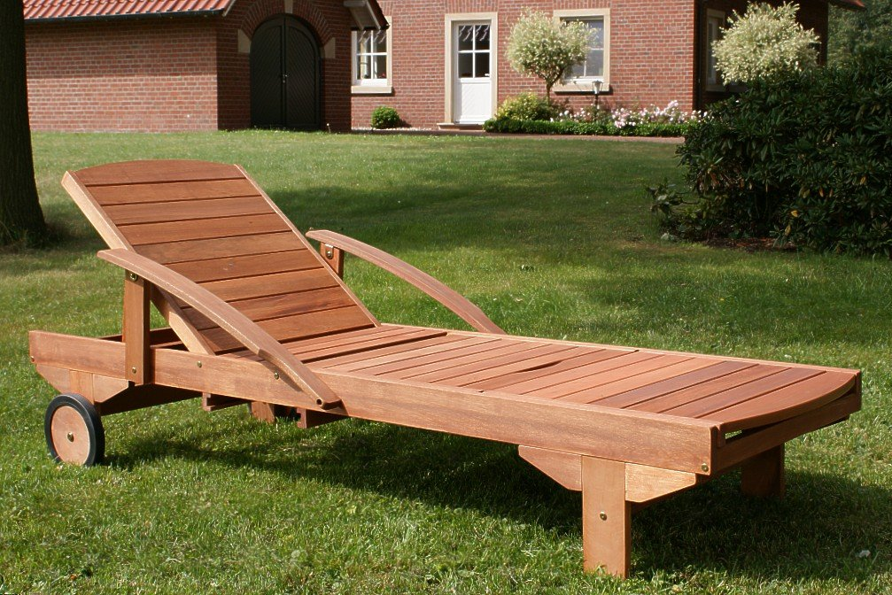 Amazon.de: Hecht Sonnenliege   ERA  , Gartenliege, Holzliege, Liege Aus  Meranti Holz