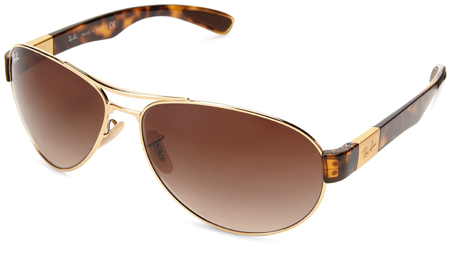 72ea35e77ec Amazon.com  Ray-Ban RB3509 - ARISTA Frame BROWN GRADIENT Lenses 63mm  Non-Polarized  Ray-Ban  Clothing