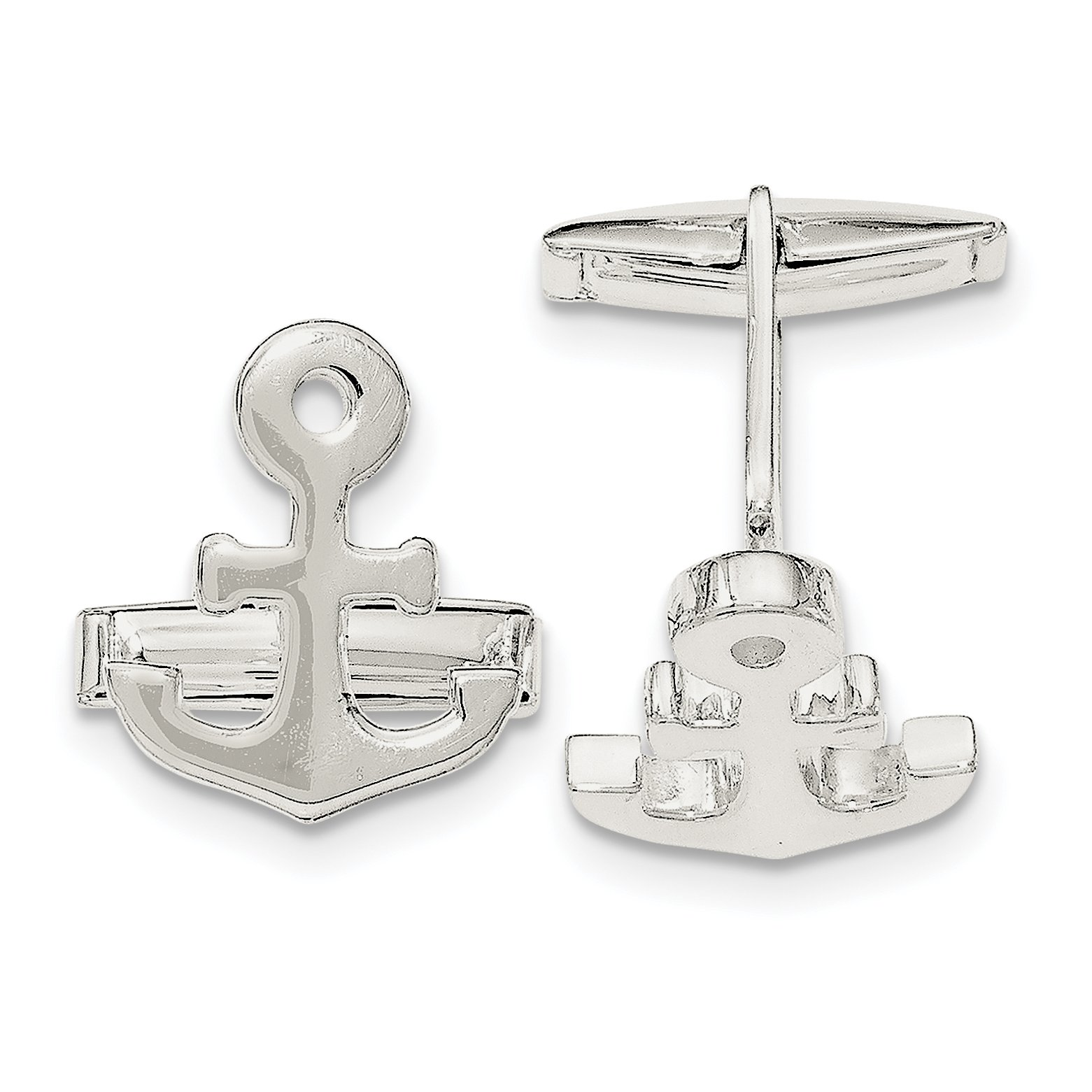 ICE CARATS 925 Sterling Silver Nautical Anchor Ship Wheel Mariners Cuff Links Mens Cufflinks Link Fine Jewelry Dad Mens Gift Set