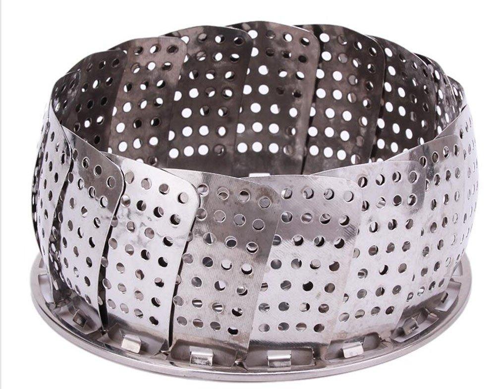 VWH Folding Stainless Steel Steamer Steam Vegetable Basket Mesh Cooker Expandable
