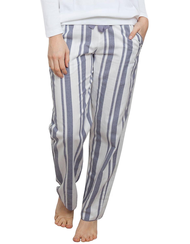 TALLA 36. Cyberjammies 3864 Women's Fifi Grey Striped Pajama Pyjama Pant