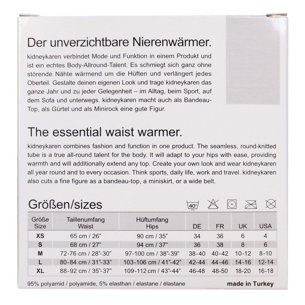 Tube Multifunktion Yogagurt f/ür Fitness /& Freizeit in vielen Farben Kidneykaren Nierenw/ärmer Basic