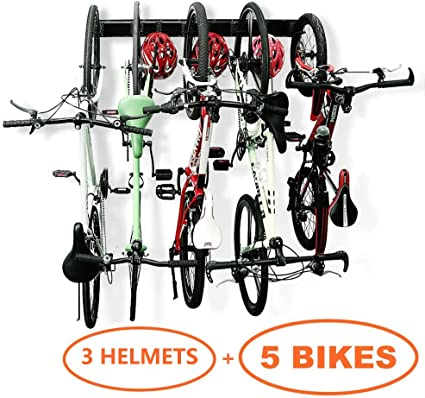 Bicycle Flip Up Storage Rack Stand Hook Hanger Easily Store Large or Small Bikes