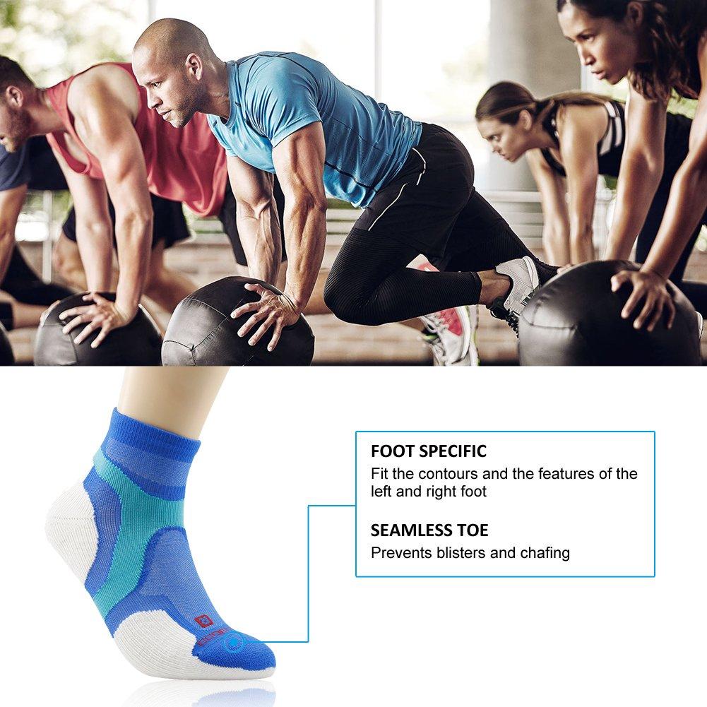 Running Socks, ZEALWOOD Merino Wool Low Cut Cycling Socks for Men and Women,Women Christmas Gifts Christmas Socks Unisex Breathable Sport Socks-Blue/White,Small, 3 Pairs by ZEALWOOD (Image #5)