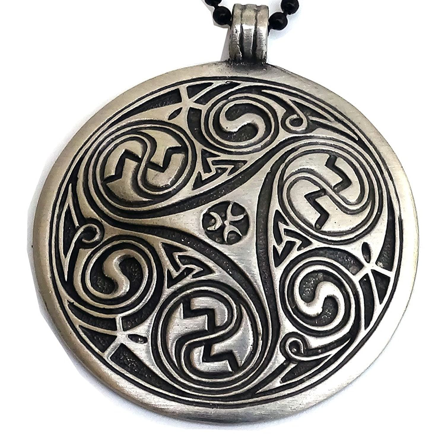 pin marble irish triskelion pendant triple triskele pagan connemara jewelry celtic spiral
