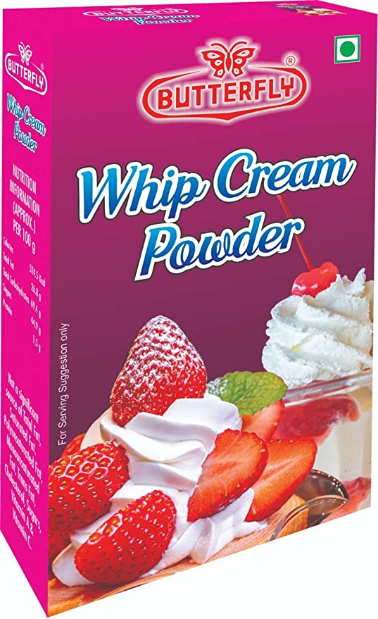 Butterfly Instant Whip Cream Powder 50g Amazon In Grocery Gourmet Foods