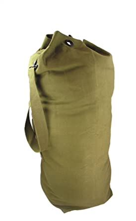 Large Olive Green Canvas Army   Navy Kit Bag Holdall Duffle Bag - 34 ... 1f6fd5f03bd