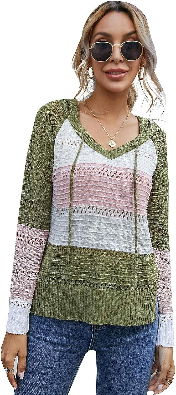 LANISEN Women Long Sleeve Leopard Patchwork Color Block Hooded Sweatshirt Drawstring Hoodies Pullover Tops with Pockets