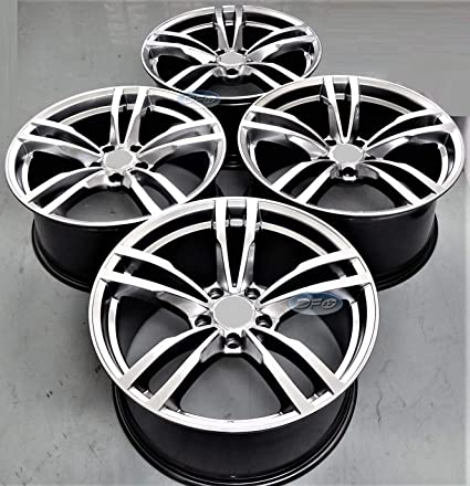 Amazon Com 19 Inch Silver Staggered Wheels Rims Full Set Of 4