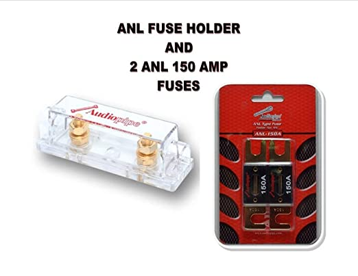 audiopipe heavy duty anl fuse holder block cq 1100 and 2 anl 150 amp rh amazon com
