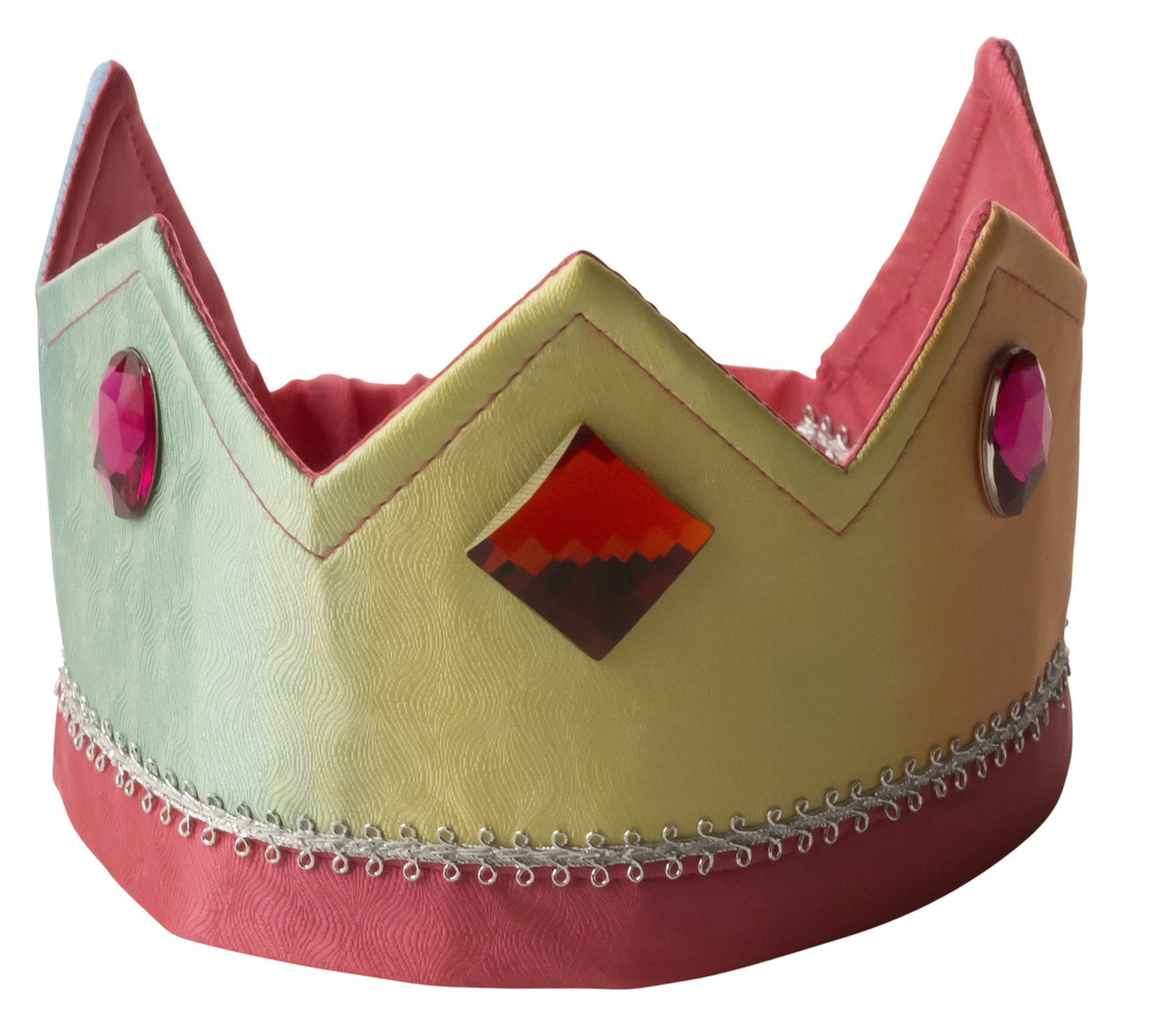 Sarah's Silks - Reversible Silk Crown - Rainbow/Rose by Sarah's Silks (Image #1)