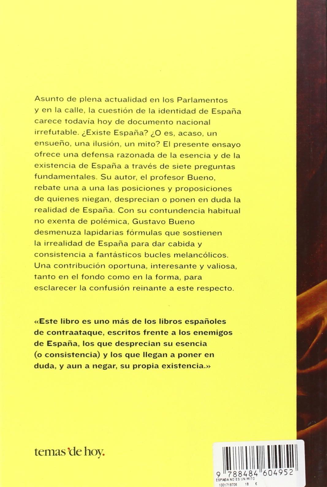 España no es un mito (Fuera de Colección): Amazon.es: Bueno, Gustavo: Libros