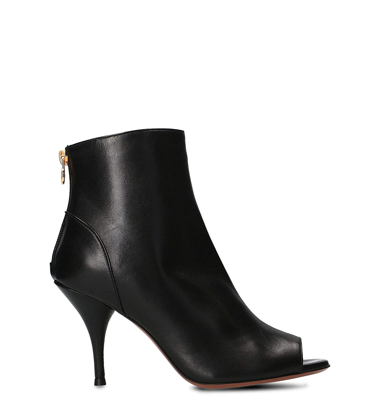 - L'AUTRE CHOSE Women's LDJ11785CP26151001 Black Leather Ankle Boots