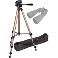 DURAGADGET Lightweight Aluminium Tripod with Carry Bag (Binocular Adaptor Required) for Celestron Outland X Roof Prism 10x42mm 71347|71009 15x70 Skymaster|71347 Outland 10x42 Roof Prism Binocular