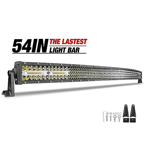 54 Inch Curved Led Light Bar Dji 4x4 Quad Row 396w Led Work Light Spot Flood Combo Led Roof Light Off Road Driving Lights Fog Lights For Truck Jeep