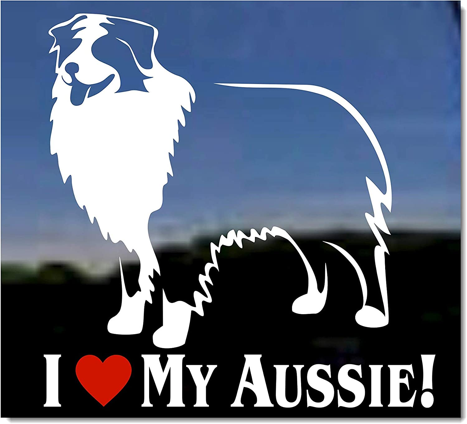 Australian Shepherd Sign I Love My 5x10