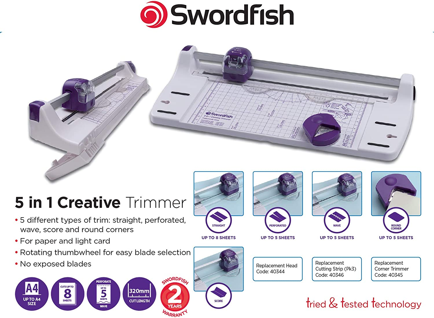 Swordfish A4 5 en 1 Creative Recortadora: Amazon.es: Oficina y ...