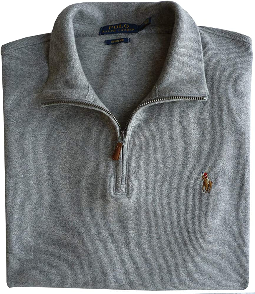 Ralph Lauren - Jersey para hombre con media cremallera, color gris ...