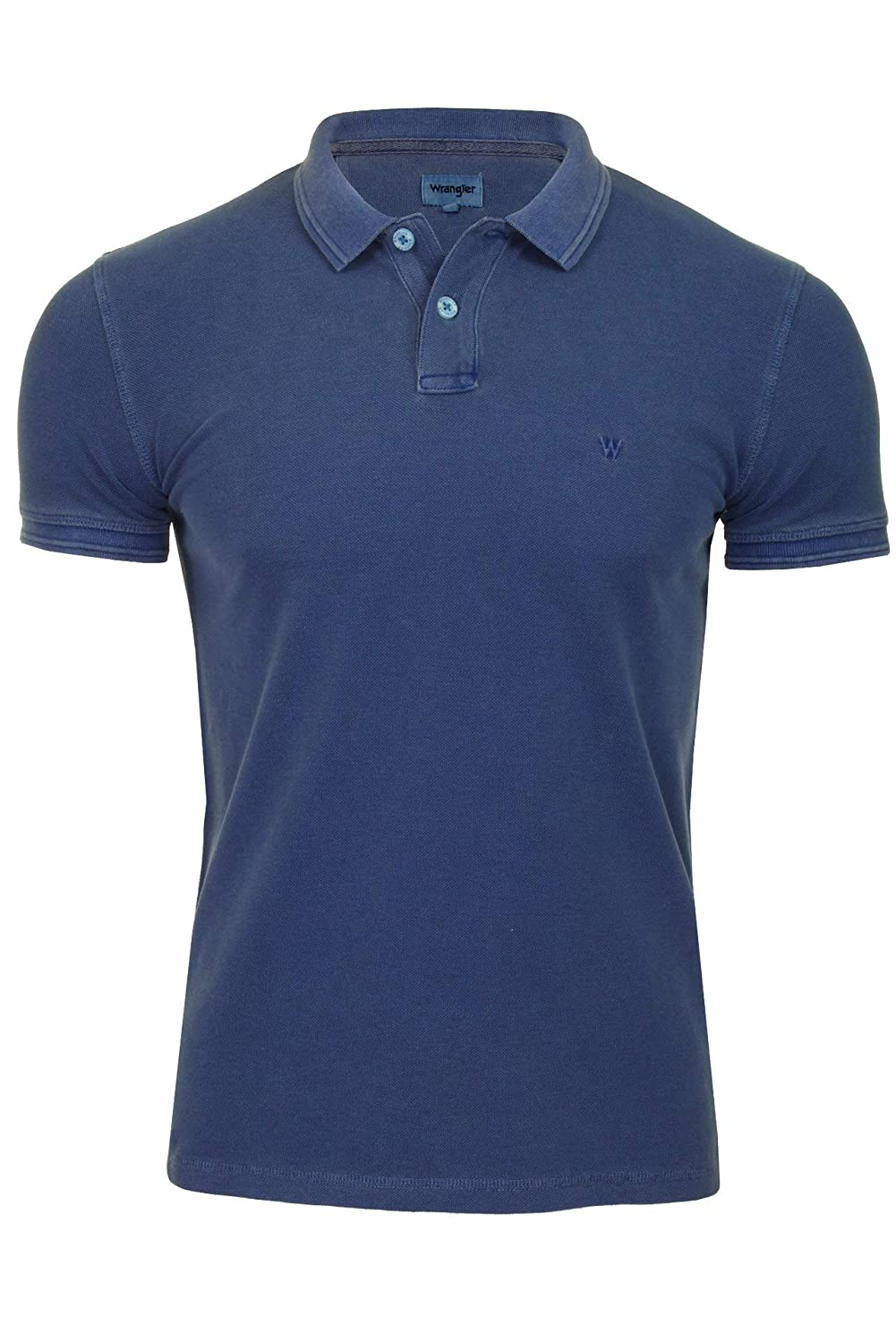 bfe59a81 Wrangler Mens Overdye Pique Polo T-Shirt: Amazon.co.uk: Clothing