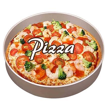 Bandejas para Horno Bandeja Herramientas para Hornear Molde DIY Gold Thicken and Deepen Plato para Pizza