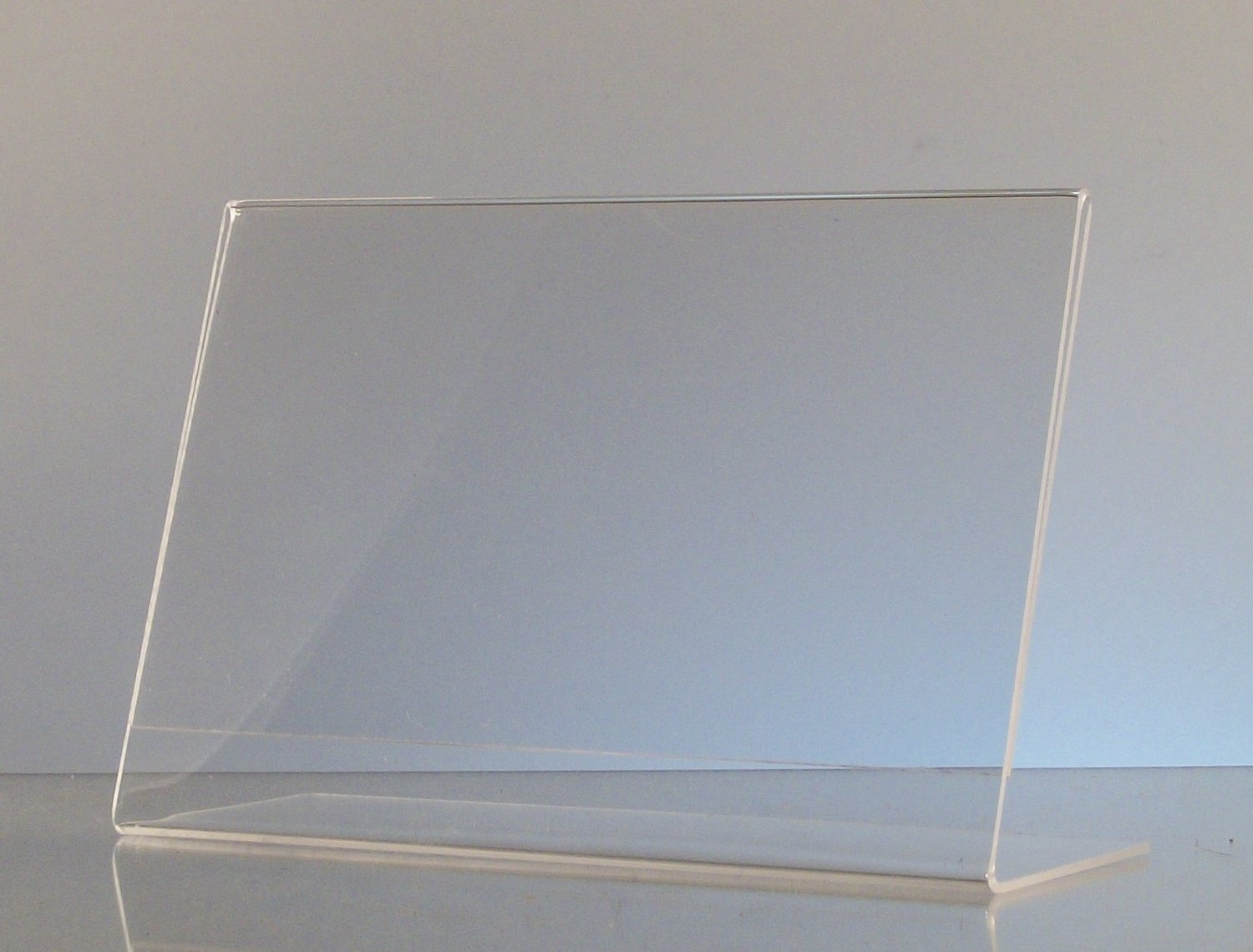 (10 Pack) 10x15CM Clear Acrylic Slant Back Ad/Sign Holder, Plastic Slanted Picture/Photo Frame 6