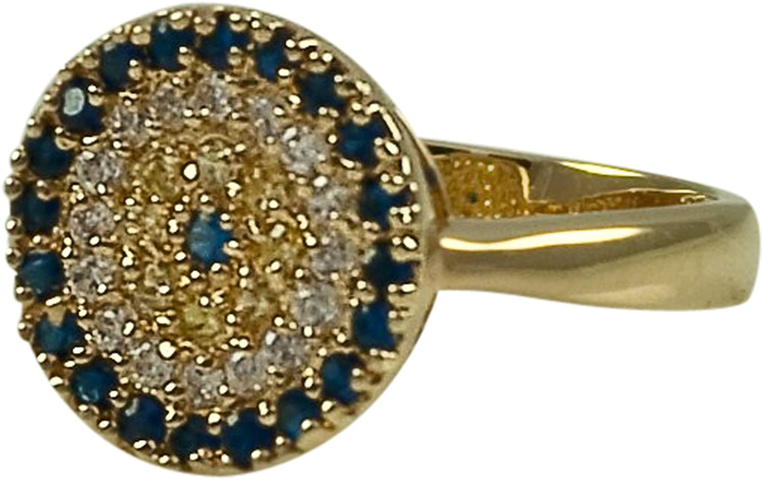 /& 14KT GOLD .925 EVIL EYE OVAL OR ROUND STUD EARRINGS-STERLING SILVER