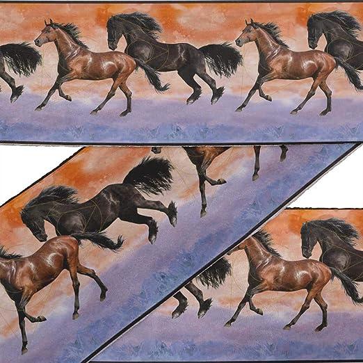 IBA Indianbeautifulart Naranja geométrica caballo y correr animal ...