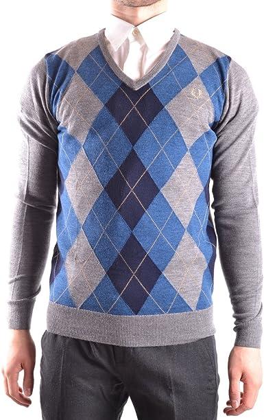 Fred Perry FP Argyle V-Neck suéter, Multicolor (Grey Marl), S para Hombre: Amazon.es: Ropa y accesorios