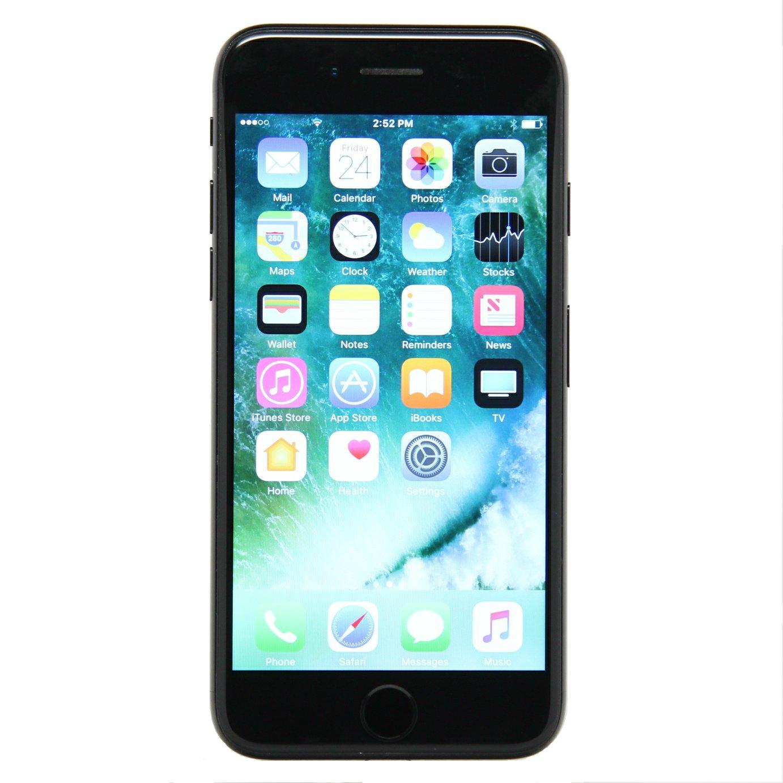 Apple iPhone 7, Fully Unlocked, 32GB - Black (Refurbished)