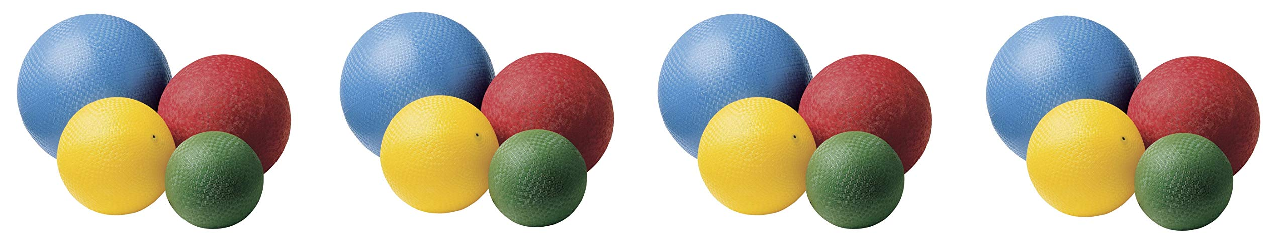 Sportime Rubber Playground Ball Set, Assorted Size, Assorted Color, Set of 16 (4-Pack) by Sportime