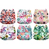 Amazon Price History for:Mama Koala One Size Baby Washable Reusable Pocket Cloth Diapers, 6 Pack with 6 One Size Microfiber Inserts (Jagger)