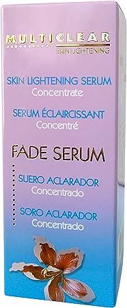 Serum Aclarador Concentrado MULTICLEAR - 30ML. Con Ácido Kojico y Láctico. Antiacné, Antimanchas y Antienvejecimiento Ideal para pieles con manifestaciones de acné.
