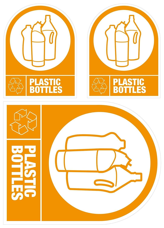 Etiquetas autoadhesivas para reciclaje: Botellas de plástico: Amazon.es: Hogar