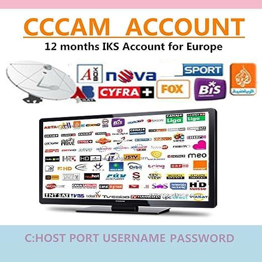 12 Mes CCCAM 1 año Europa, España 2 Cline suscripción HD Wifi DVB ...