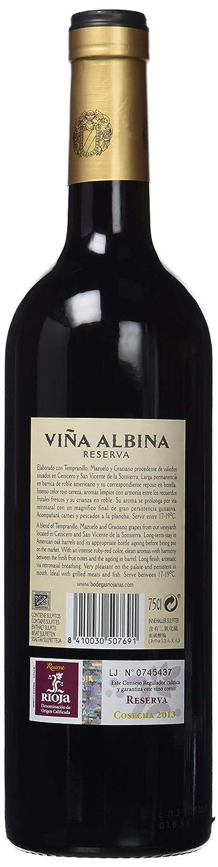Bodegas Riojanas - Vino viña albina reserva 75cl, 13.5º ...