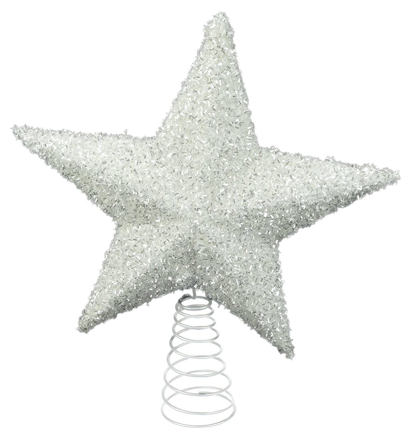 26cm Sparkly White Tree Top Star - Christmas Decorations - Christmas Tree Trims. Davies Products