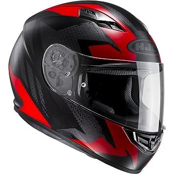 HJC 101171 X XL Casco Moto, Negro/Rojo, XXL