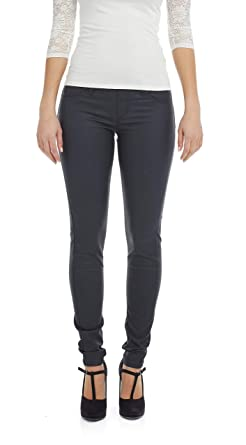 54567aed81 Suko Jeans Women's Pull On Skinny Faux Leather Ponte Pants 17292 Black 2