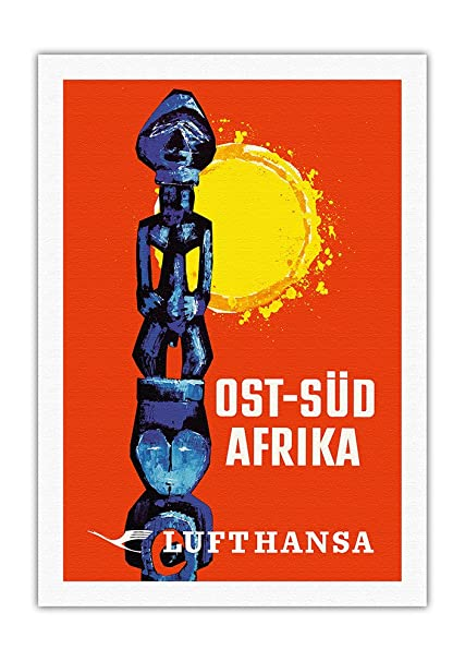 eea5fccf56 Pacifica Island Art East-South Africa (Ost-Sud Afrika) - Lufthansa German