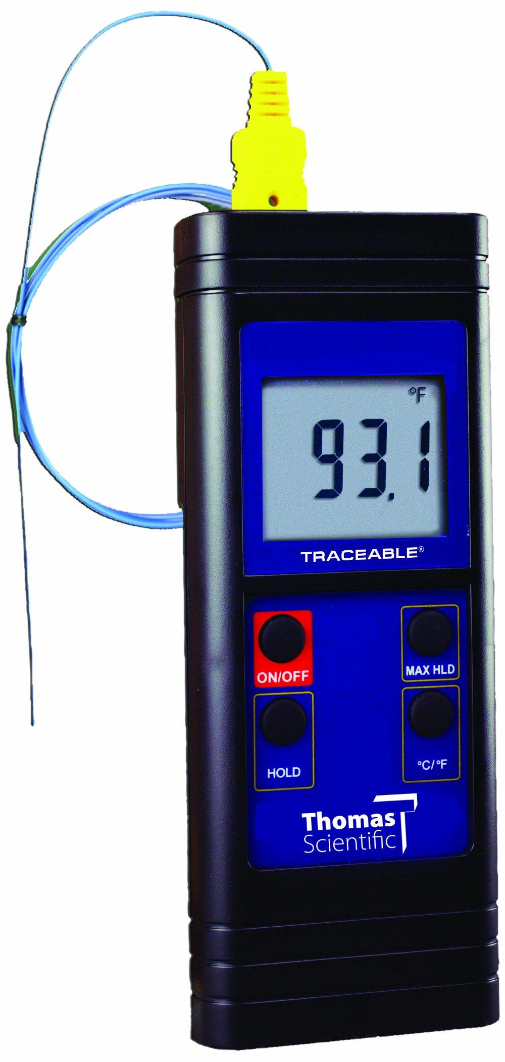 Thomas Waterproof Type K Digital Thermometer, -328 to 2372 degree F, -200 to 1300 degree C