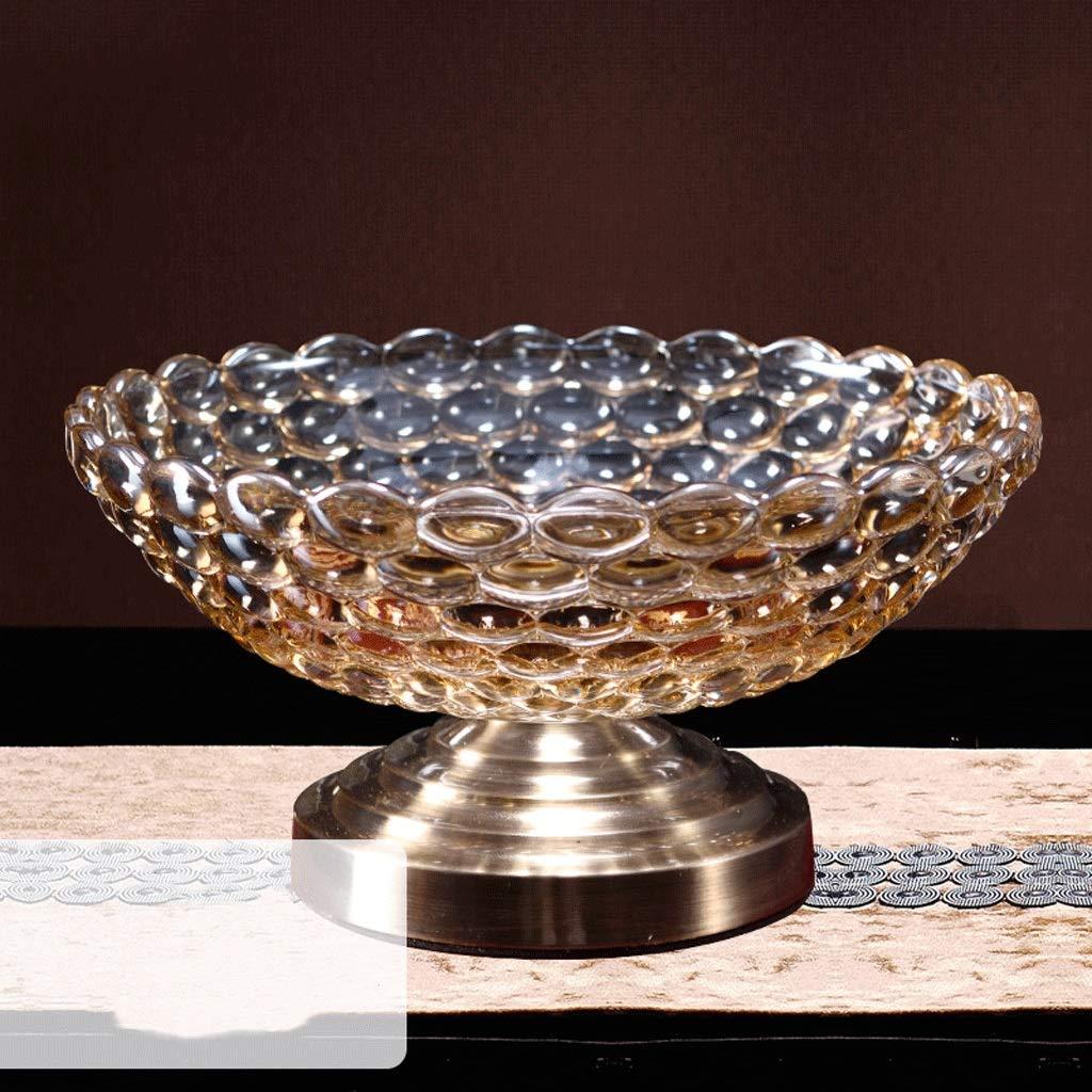 フルーツプレートヨーロッパの創造的なガラス大フルーツボウルアメリカのクリスタルリビングルームコーヒーテーブルモダンミニマリスト家庭のダブルフルーツプレート (サイズ さいず : C) C  B07K53ZHF9