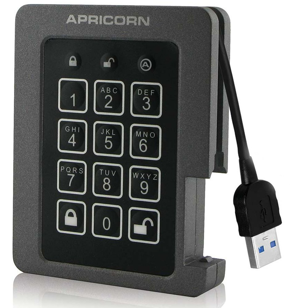 Apricorn Aegis Padlock SSD, FIPS Validated Ruggedized 2TB SSD, USB 3.0 Encrypted Drive (ASSD-3PL256-2TBF) Apricorn Direct