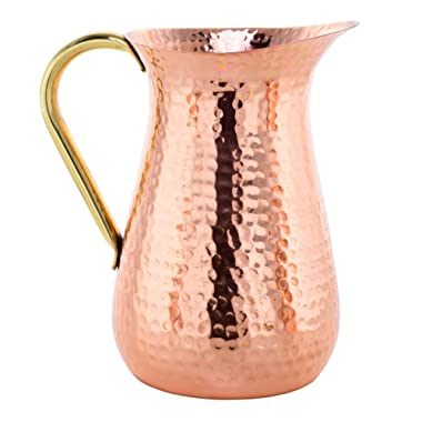 Handmade Copper Jug, Pure Copper Pitcher, 100% Copper - 1.5 Liters