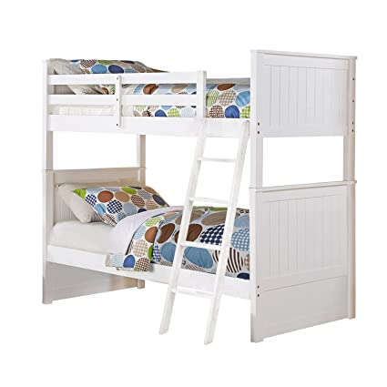 Amazon Com Us Tamex Corp Madison Twin Over Twin Bunk Bed White