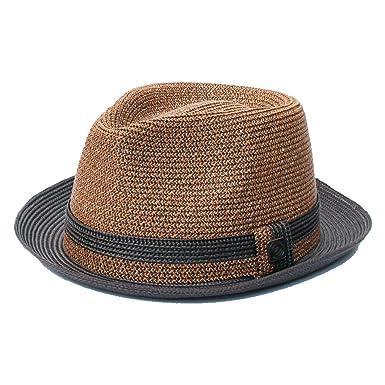 1e8c6cd814f891 Dasmarca Mens Foldable Packable Summer Straw Trilby Hat - Oscar Sand ...